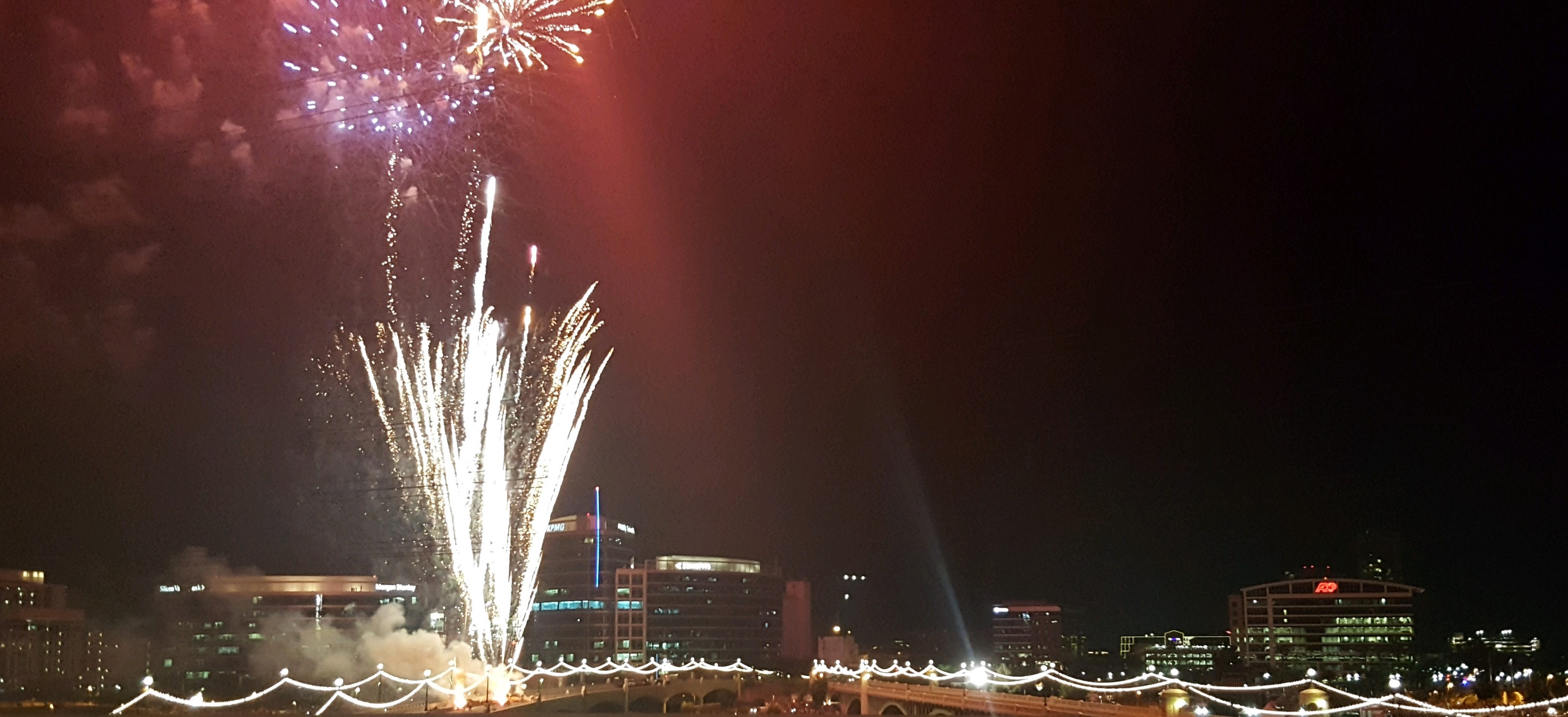 Tempe at night on the 4th of July