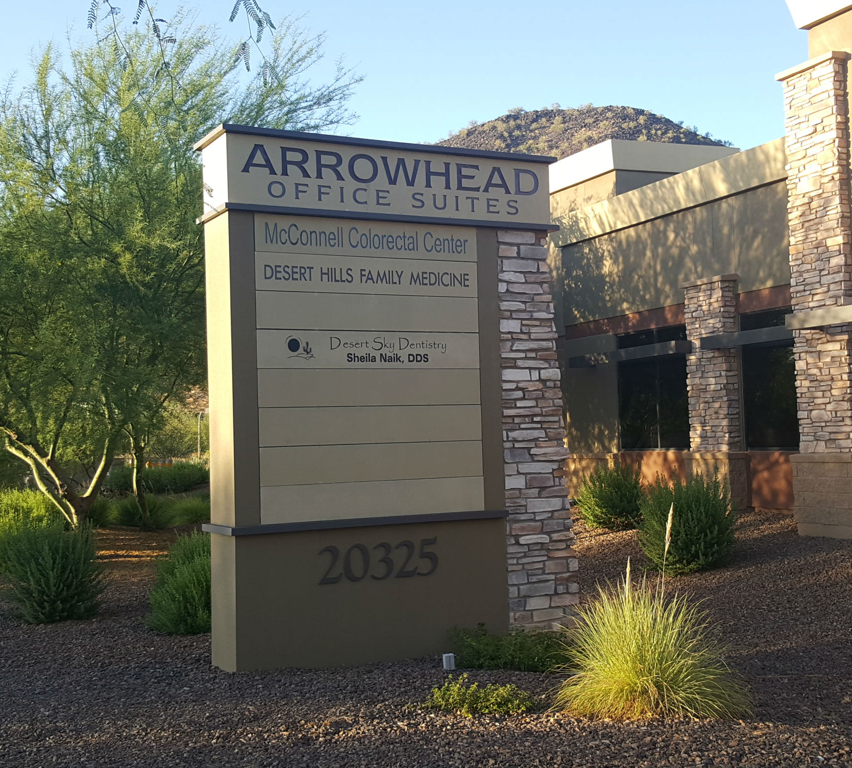 Find the office at the Arrowhead Parkway, Glendale, Arizona.