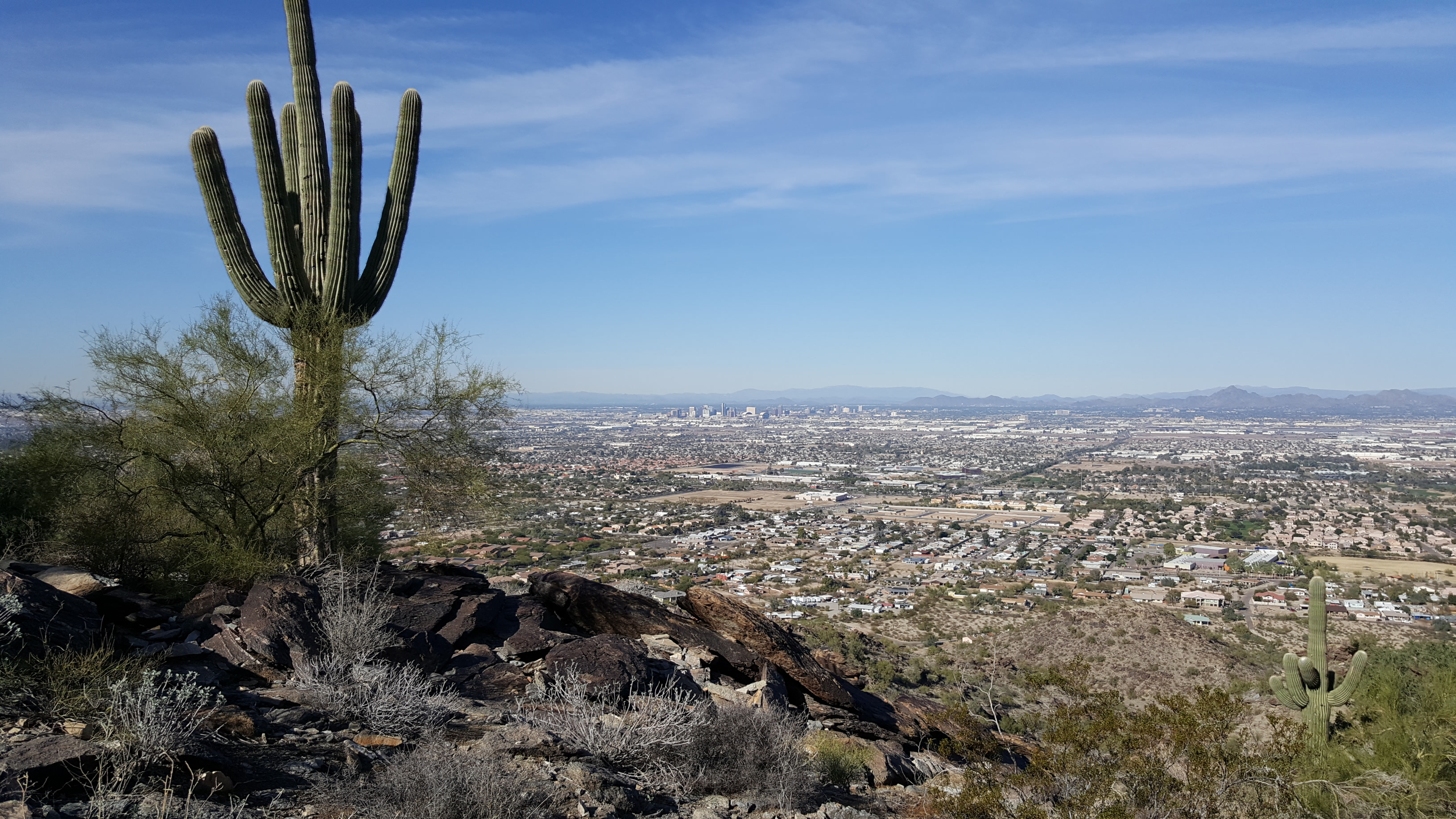 View of Phoenix from the top of South Mountain, Arizona