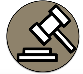 judge's gavel flat icon