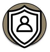 DUI defense shield icon