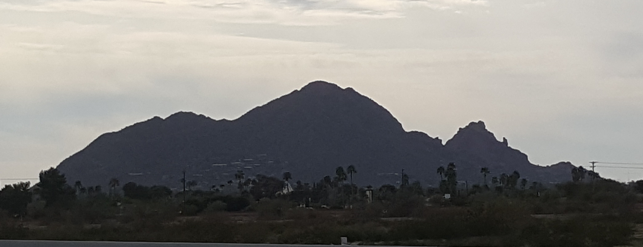 Camelback Mountain at dusk